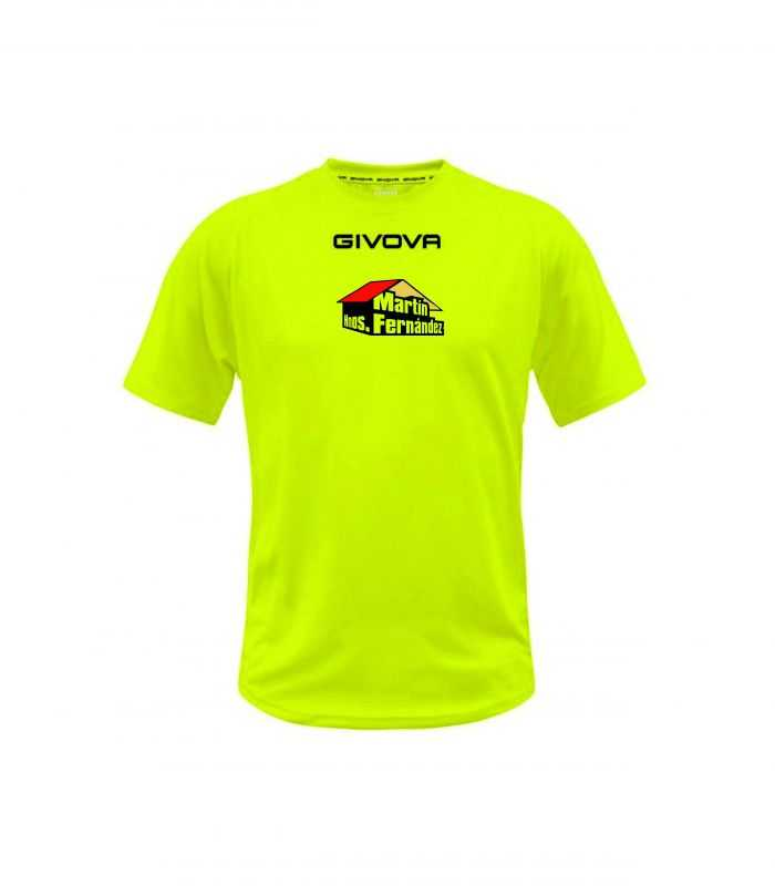 Camiseta entrenamiento Sporting Nava Oficial Fluor-Sporting Nava