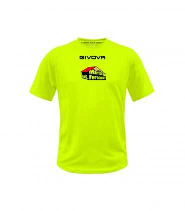Camiseta entrenamiento Sporting Nava Oficial Fluor-Camisetas