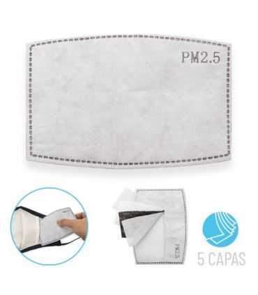 Filtro para Mascarilla cinco capas-Protección Higiénica